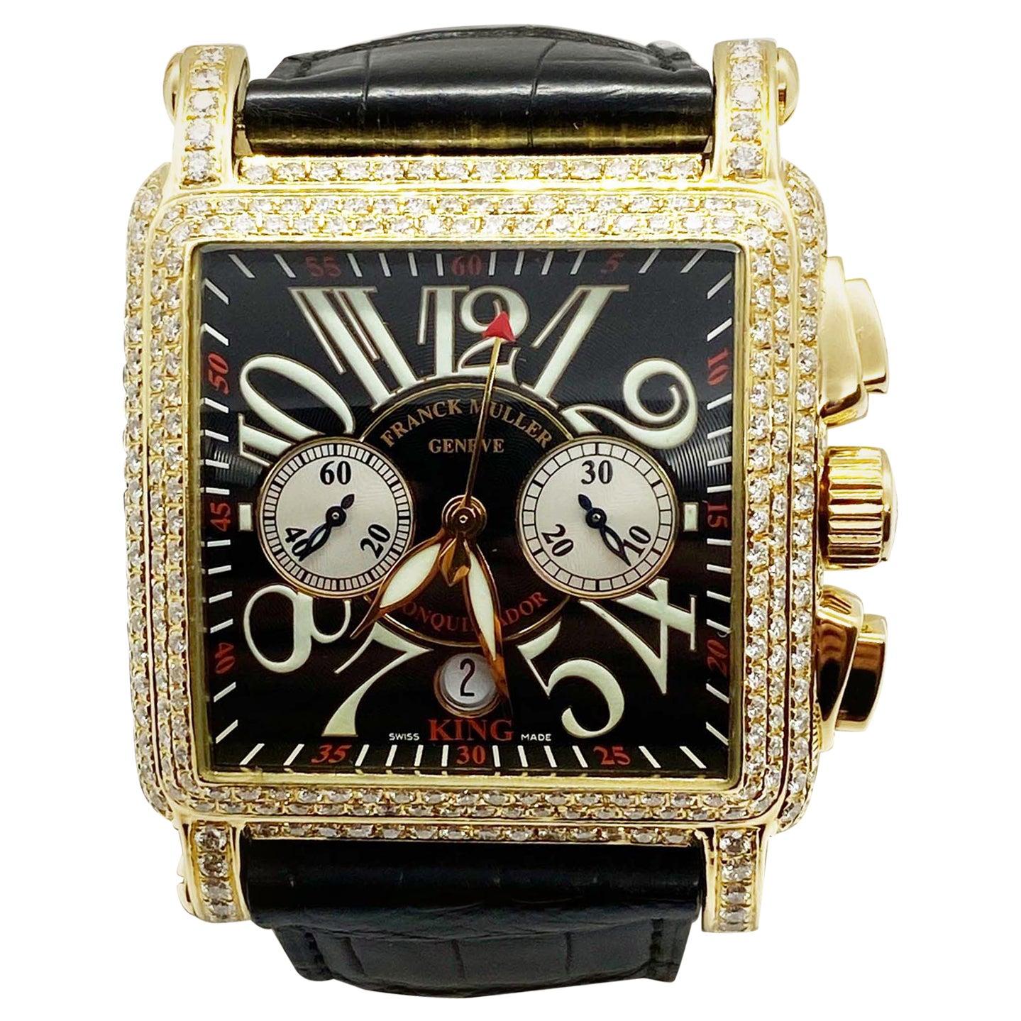 Franck Muller 10000 K CC Diamond Conquistador King Cortez 18 Karat Rose Gold