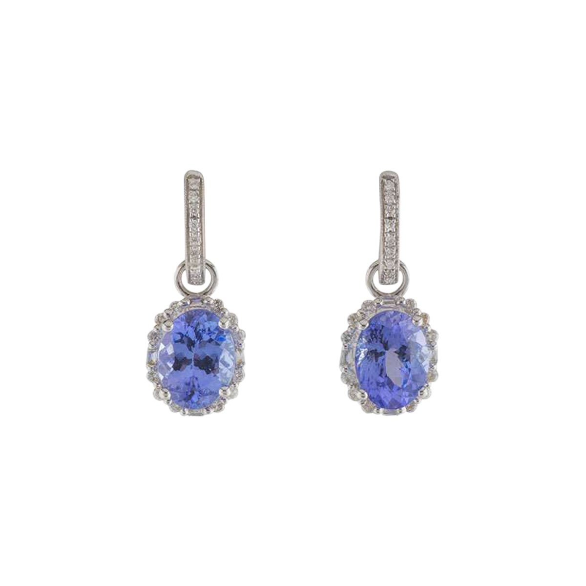 Diamond and Tanzanite Drop Earrings