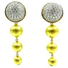 Tiffany & Co. Paloma Picasso Diamond Gold Platinum Day Night Drop Earrings