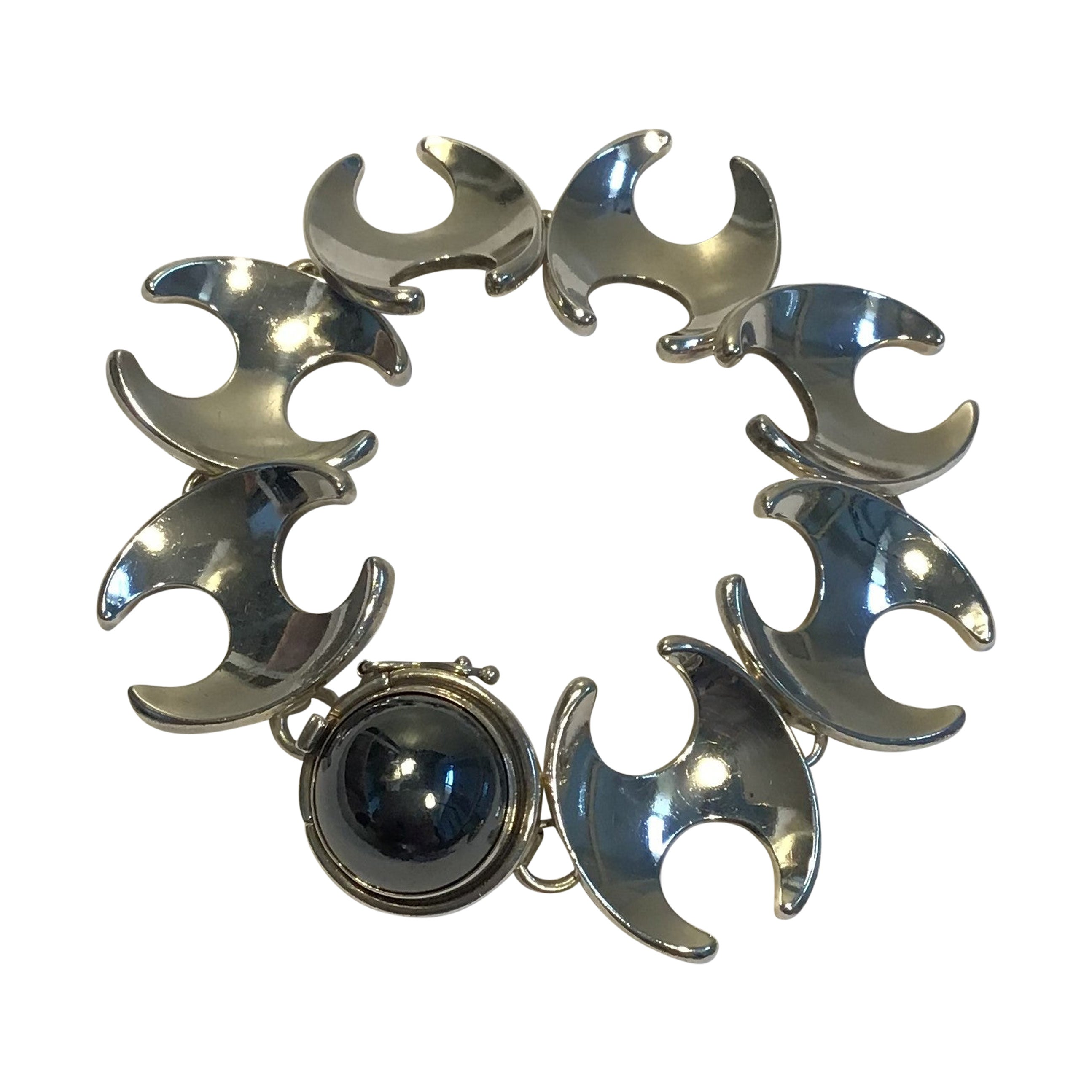 Georg Jensen Sterling Silver Bracelet No 130B Hematite