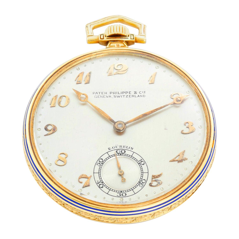 Vintage Patek Philippe 18 Karat Yellow Gold for E. Gubelin Pocket Watch