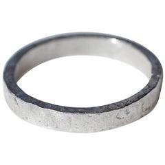 Wide Band Platinum Wedding Ring Stacking Modern Design for Man or Woman