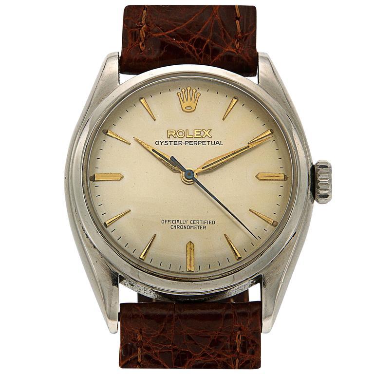Rolex Stainless Steel Oyster Wristwatch Ref 6084 1