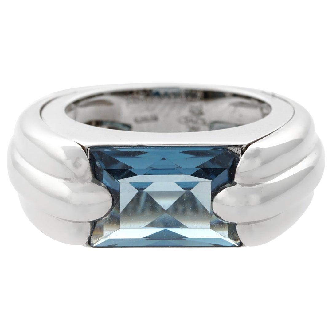 Audemars Piguet White Gold Topaz Ring