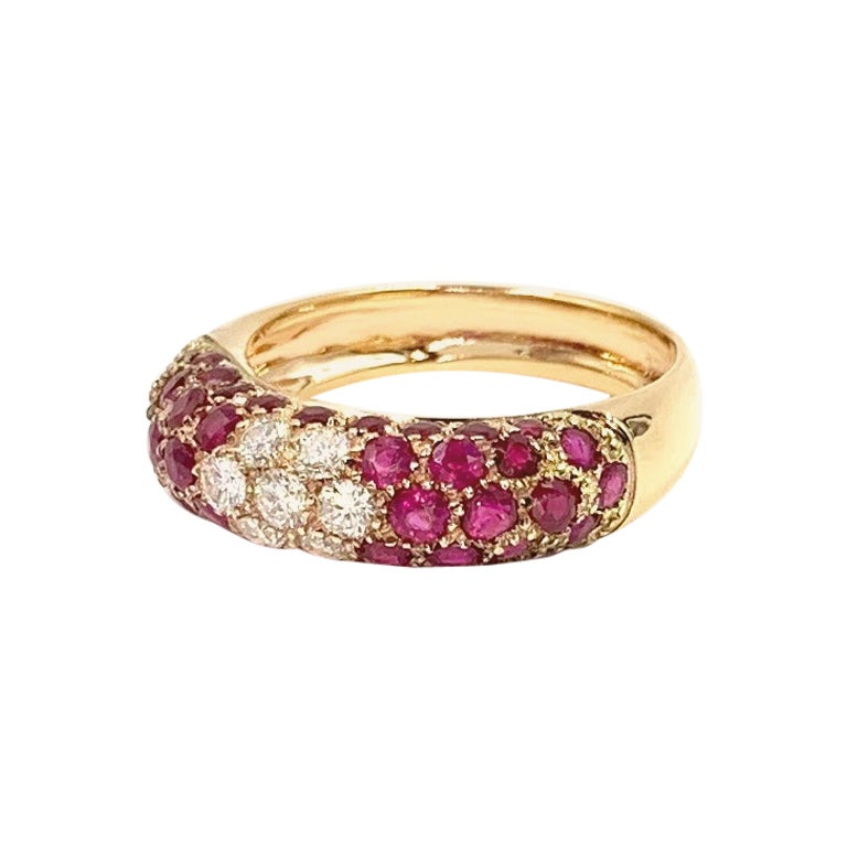 18 Karat Rose Gold Ruby and Diamond Ring
