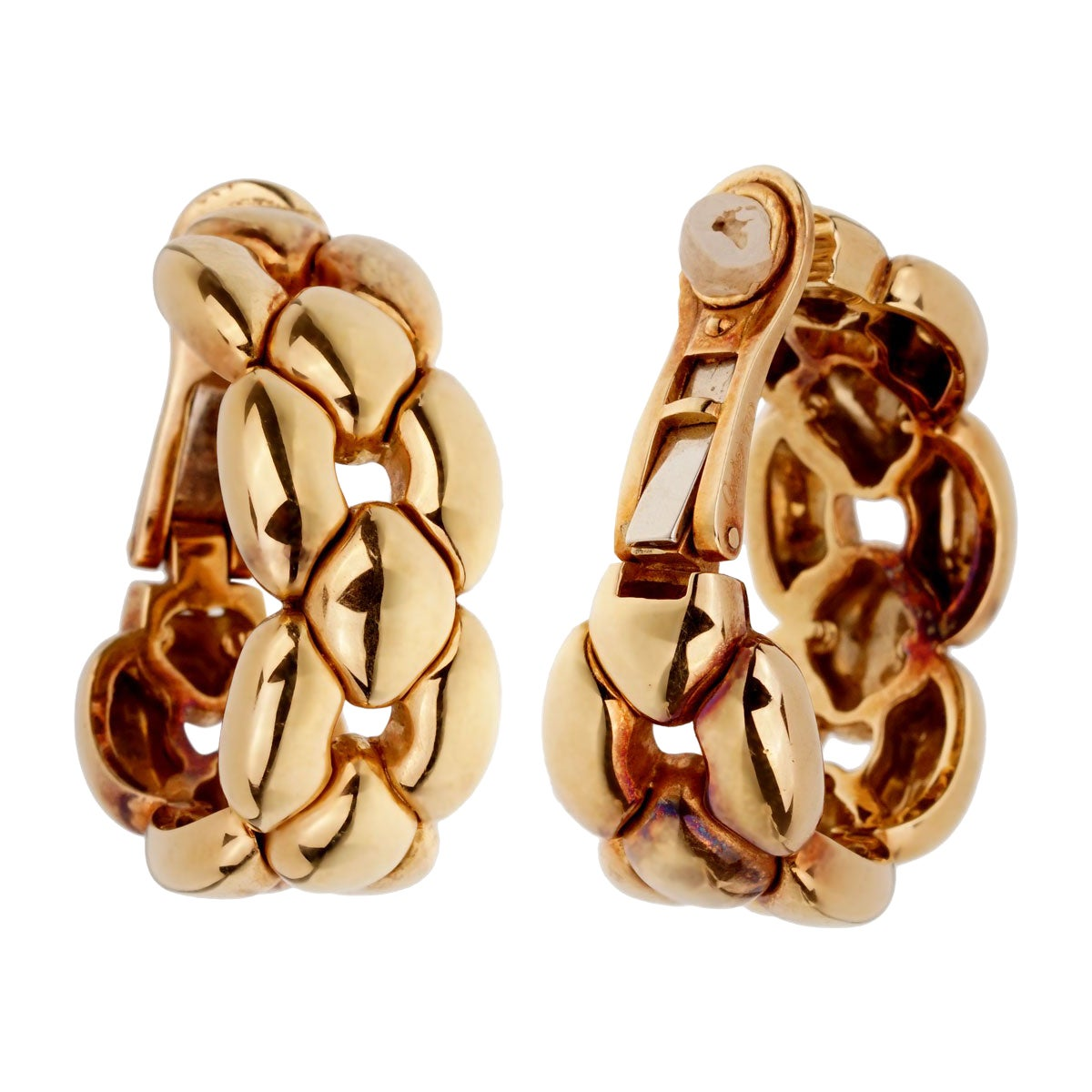 Cartier Vintage Yellow Gold Hoop Drop Earrings