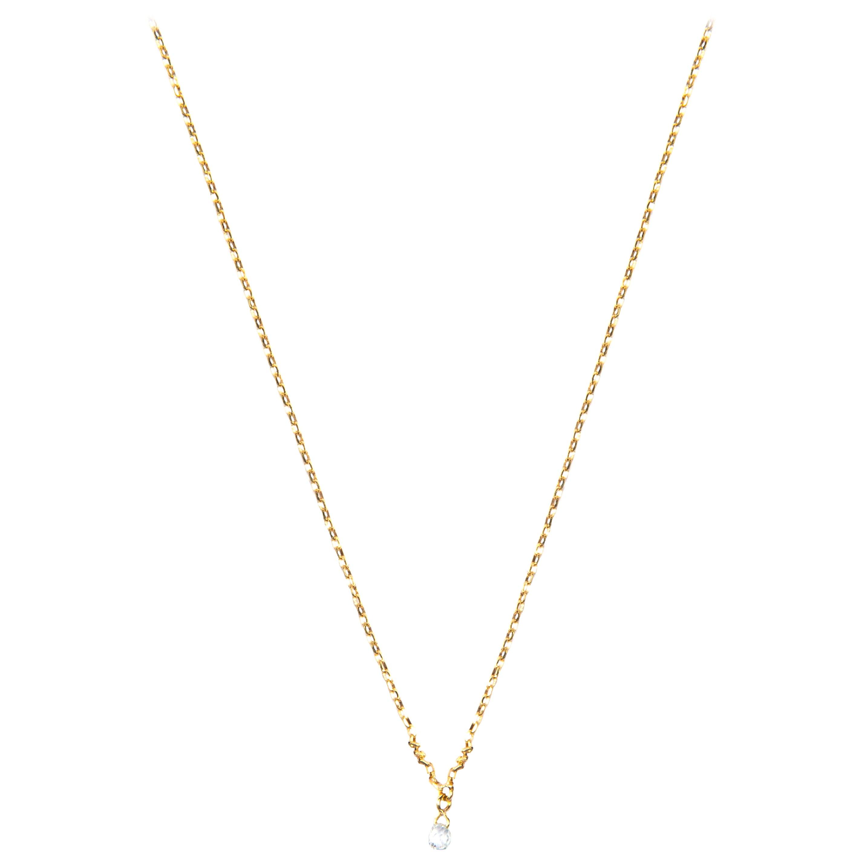 Jona White Diamond 18 Karat Yellow Gold Necklace