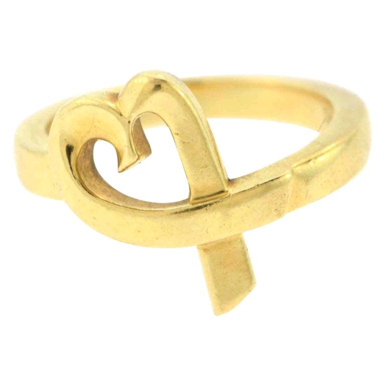 Tiffany & Co. Paloma Picasso Loving Heart Diamonds Ring