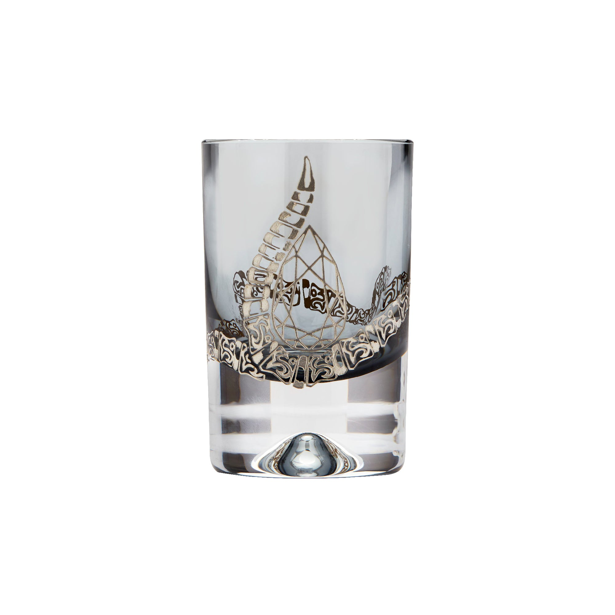 Stephen Webster Tequila Lore Rattlesnake Engraved Smoke Shot Glass - Set of 2