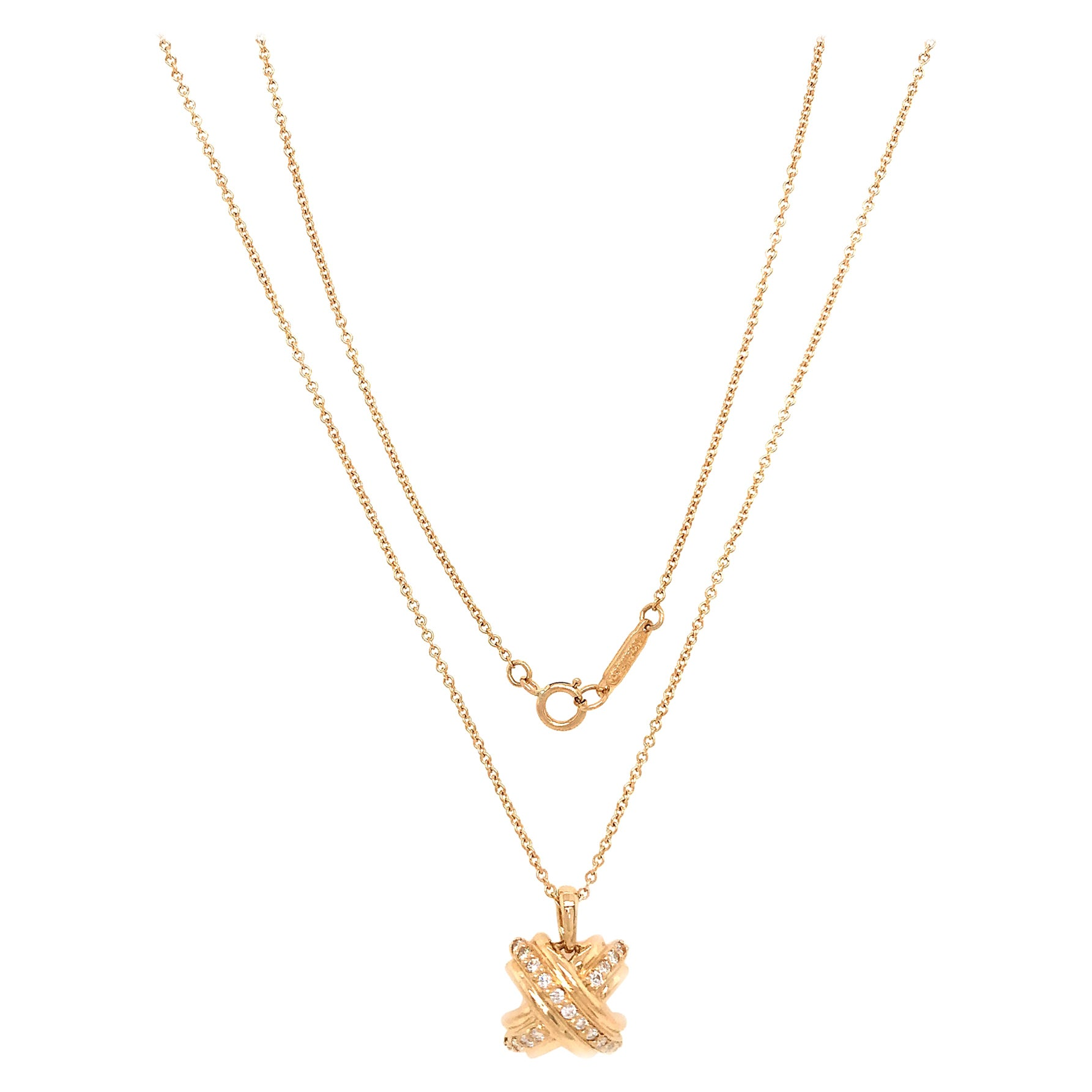 Tiffany & Co. Signature X Diamond Necklace