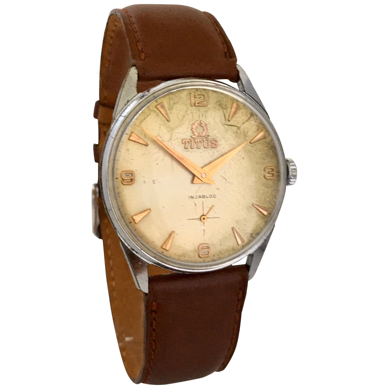 1960s Vintage Solvil Et Titus Genève Watch