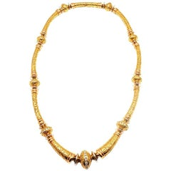 SeidenGang Diamond Laurel Yellow Gold Necklace