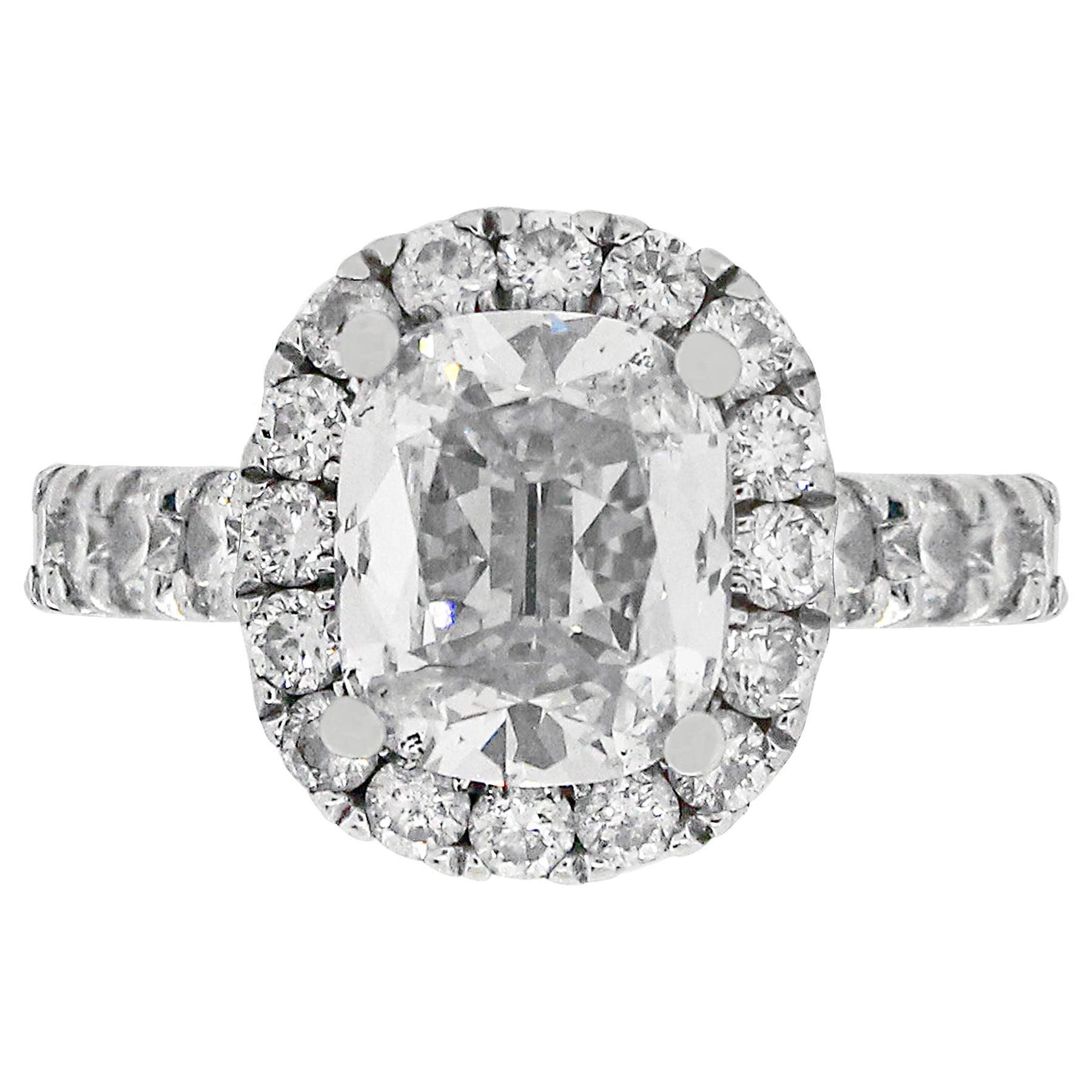 1.37 Carat Cushion Cut Engagement Ring