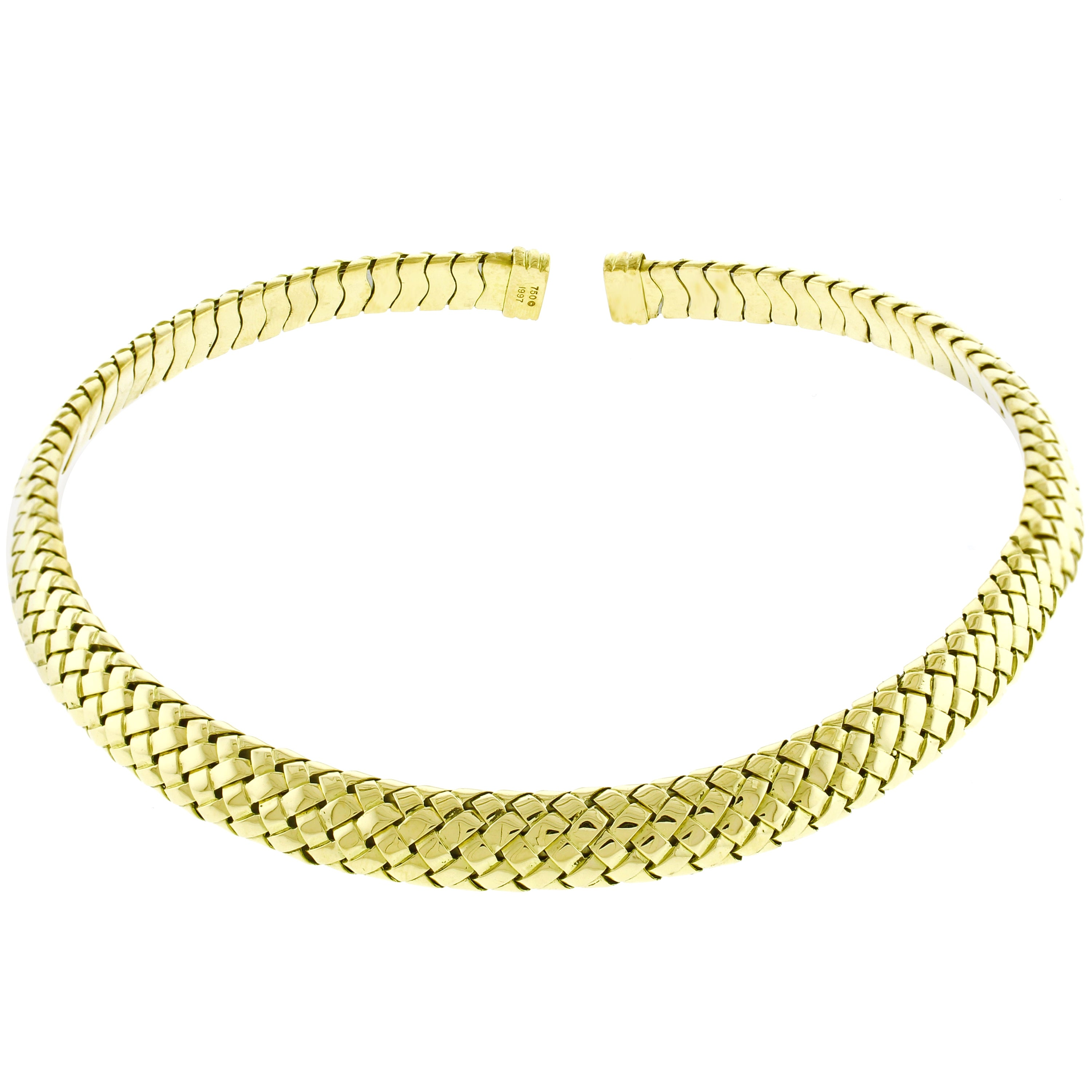 Tiffany & Co. Vannerie Mesh Yellow Gold Necklace Choker