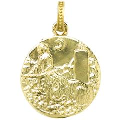 Renaissance Portrait Pendant of Innocence and Unicorn