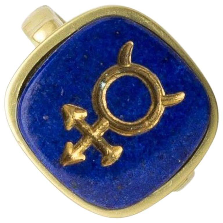"""Mercury"" Lapis Lazuli Gold Ring"