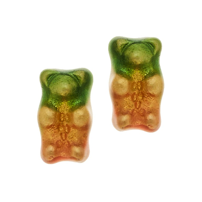 Studs Earrings  Gummy Bears  Colorful Gift Silver Gold-Plated Greek Jewelry