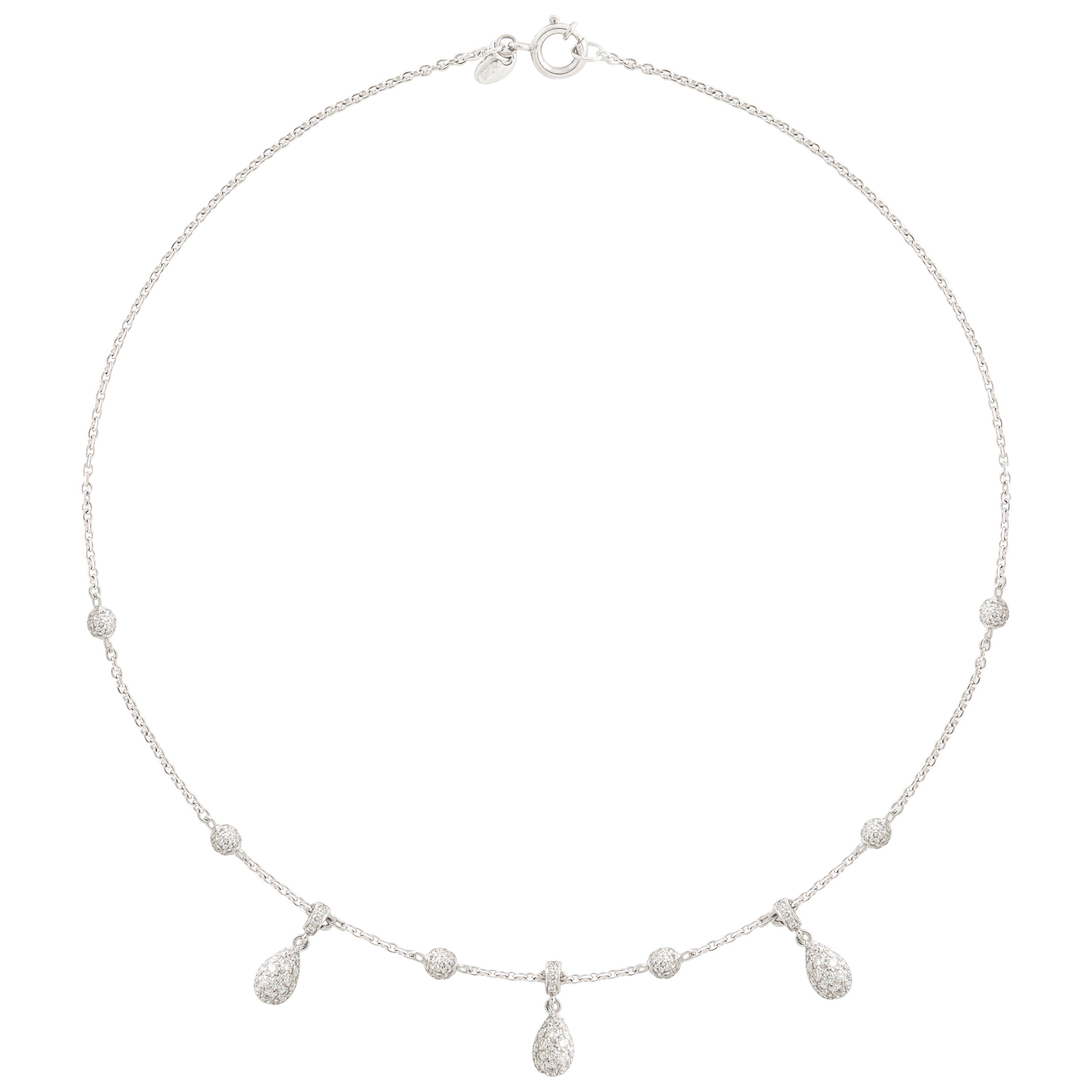 Adler Diamond and White Gold Necklace