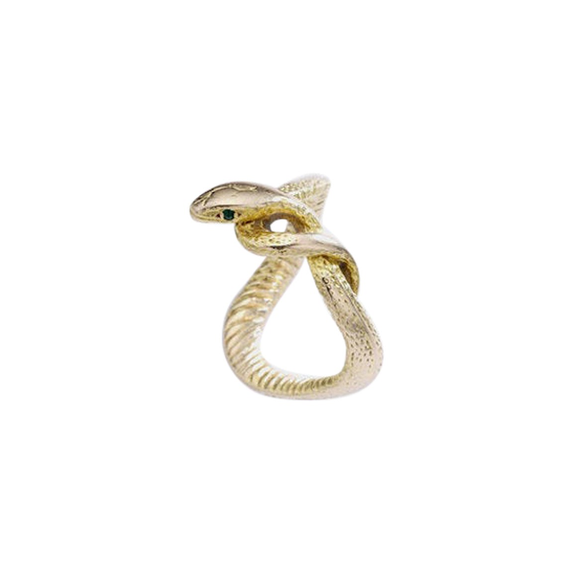 Antique Yellow Gold Snake Ring