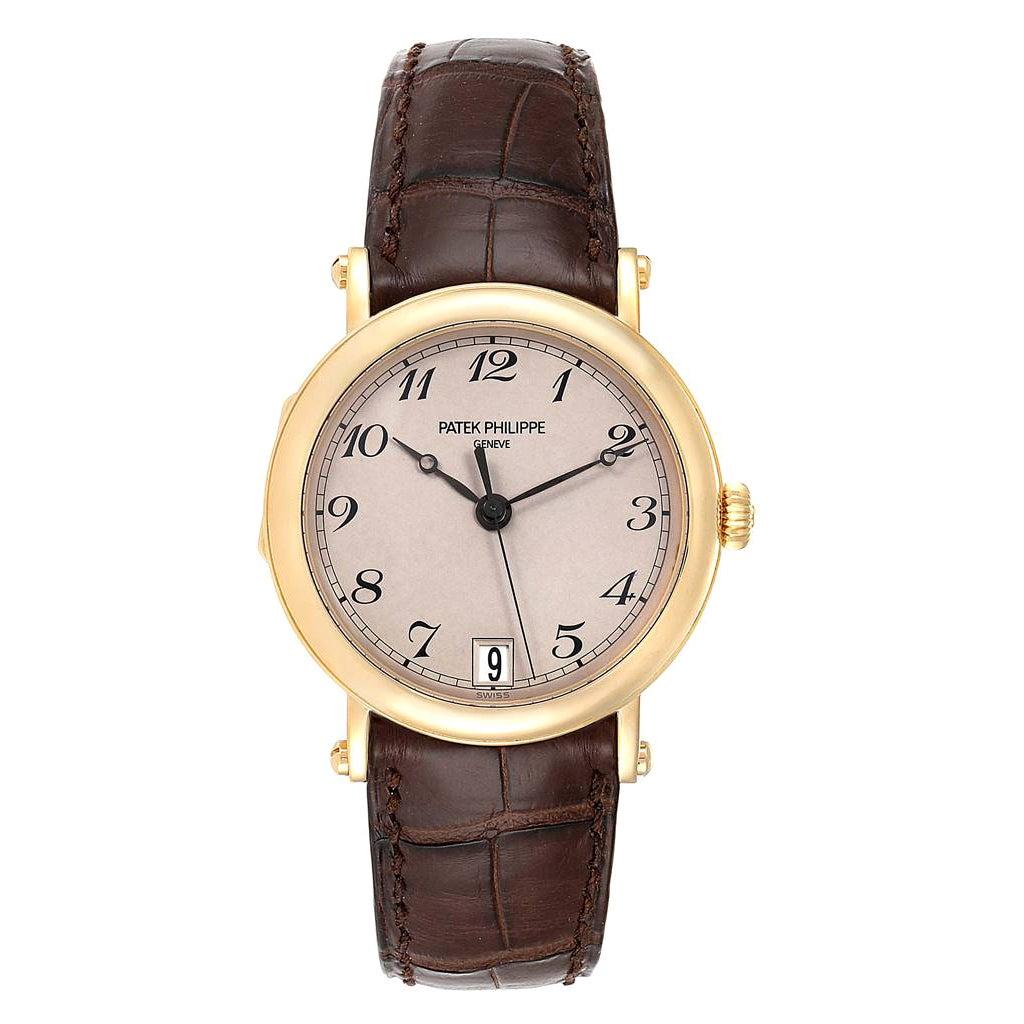 Patek Philippe Calatrava Officier Yellow Gold Men's Watch 5053 Papers