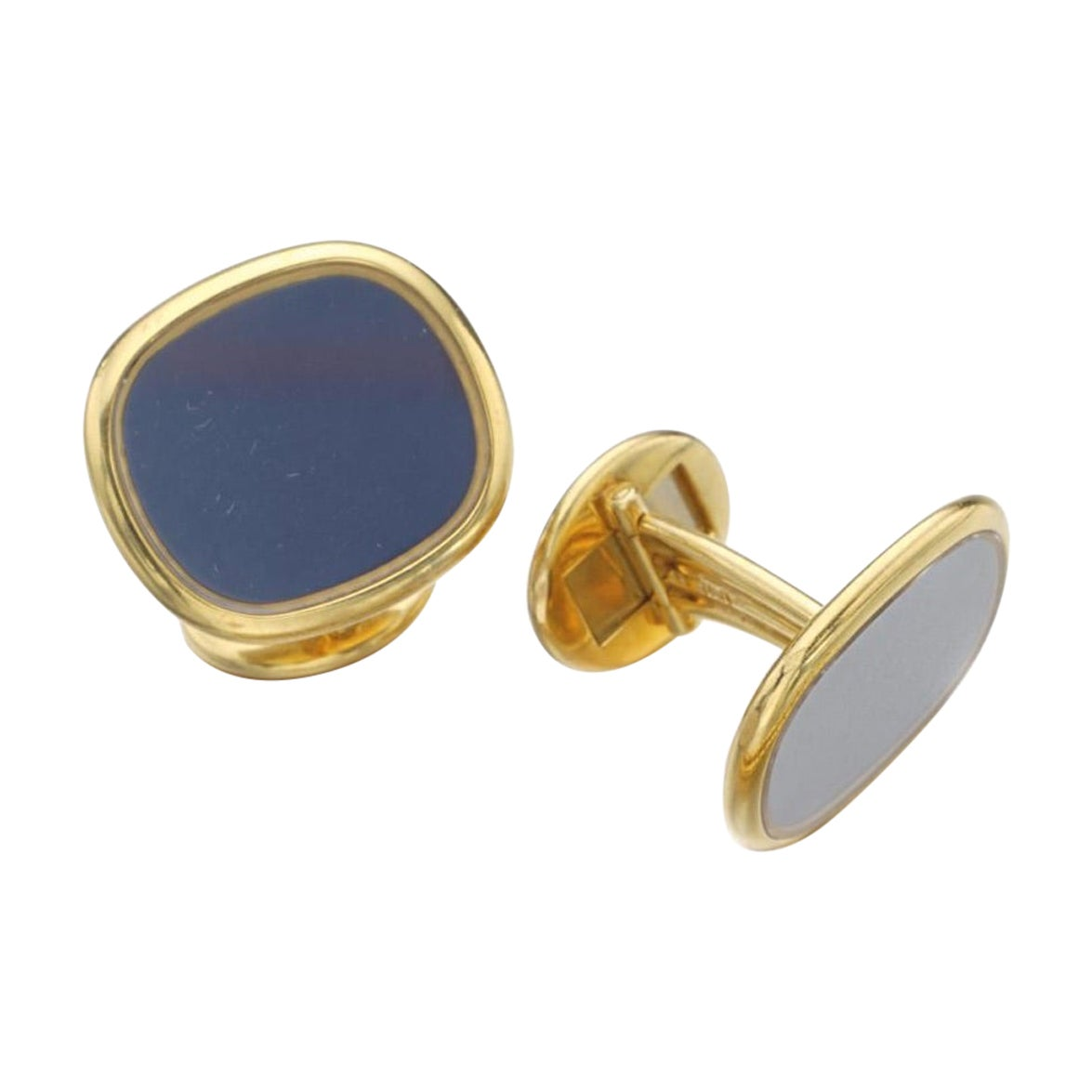 Patek Philippe Ellipse Yellow Gold 18 Karat Cufflinks, 1970s