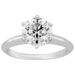 Tiffany & Co. 1.93 Carats G VVS1 Diamond Platinum Ring