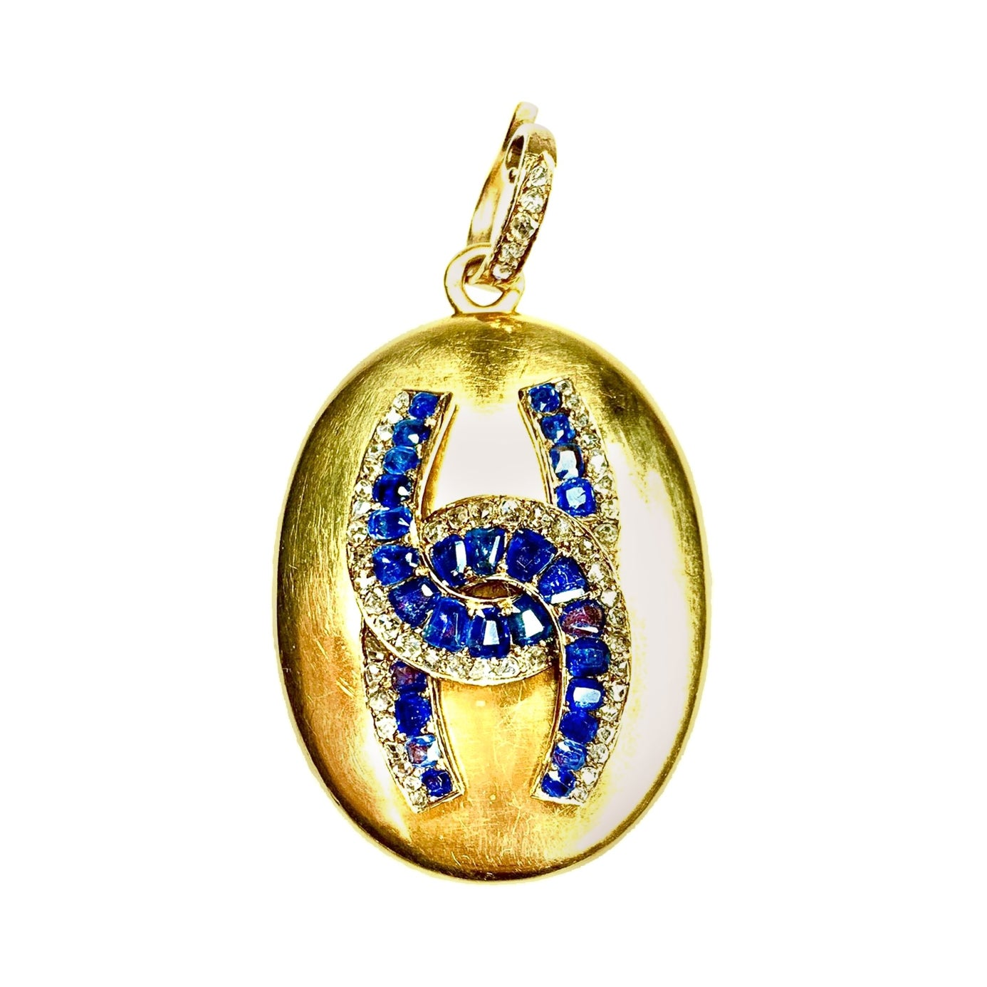 Gemolithos Victorian Gold Sapphire and Diamond Pendant