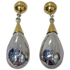 Rare  Walter Schluep Sterling Silver Gold Earrings