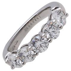 Tiffany & Co. Diamond Platinum Five Stone Ring