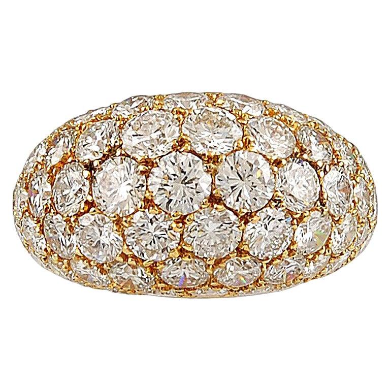 Van Cleef & Arpels Diamond Yellow Gold Bombe Ring