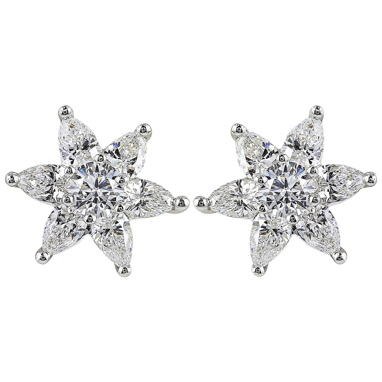 carat star shaped diamond gold earrings for sale at. Black Bedroom Furniture Sets. Home Design Ideas