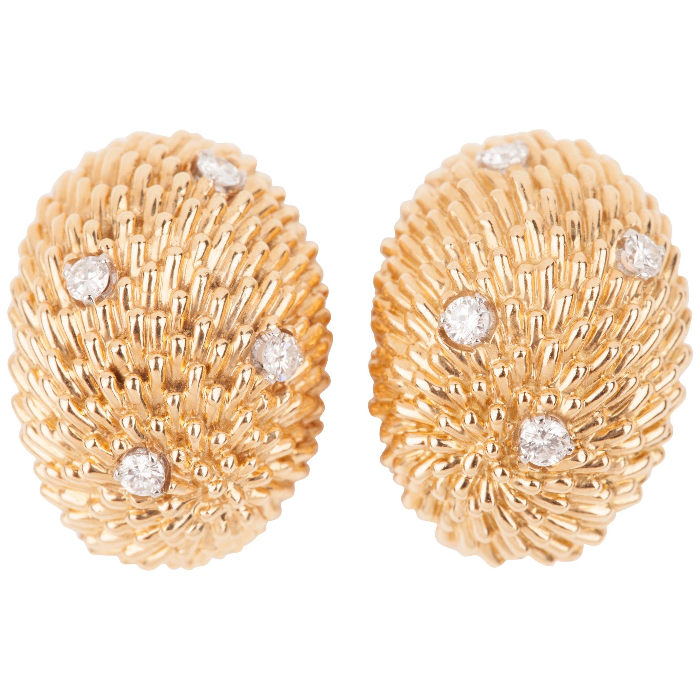 Van Cleef & Arpels Gold and Diamonds Earrings