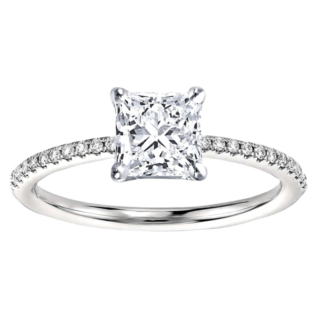 GIA Certified Natkina Customizable Engagement Ring Princess Diamond Cut