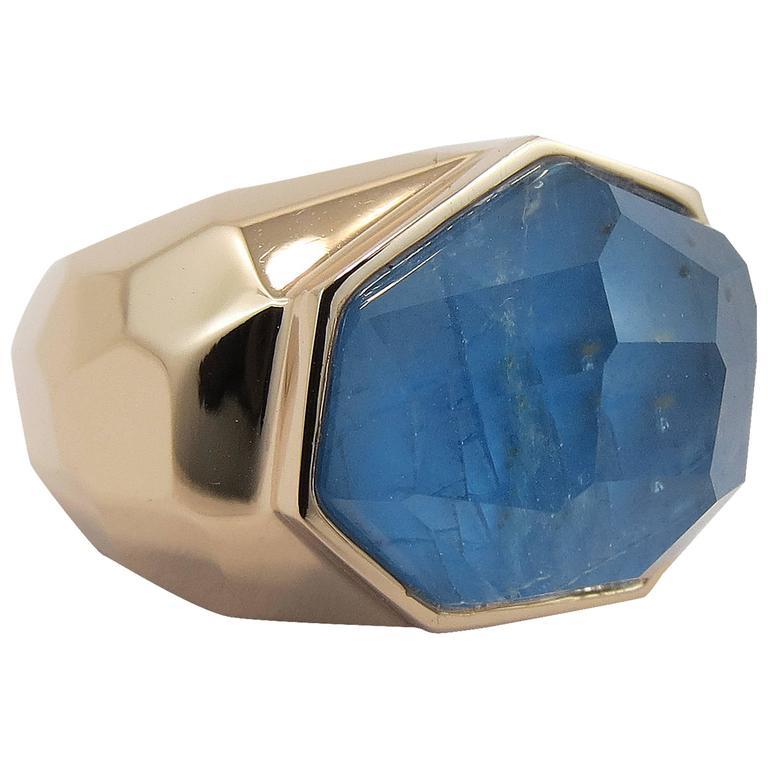 Jona Apatite Quartz 18K Rose Gold Dome Ring