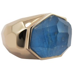 Jona Apatite Quartz 18 Karat Rose Gold Dome Ring