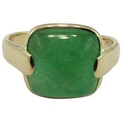 Jona Burmese Jade Quartz Gold Cocktail Ring