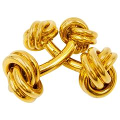 Tiffany & Co. Classically Elegant Gold Knot Cufflinks