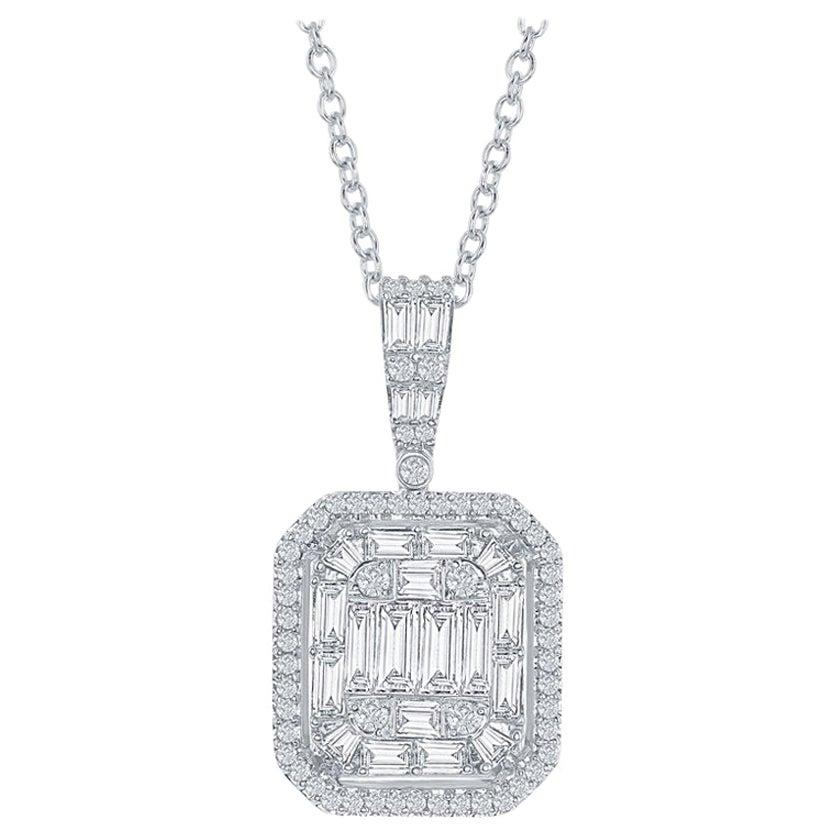 2 Carat Emerald Cut Diamond Pendant