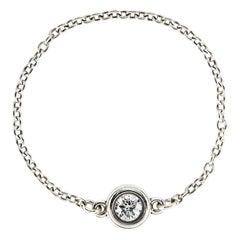 Tiffany & Co. Diamonds by The Yard Ring Estate Silver Chain Band Peretti