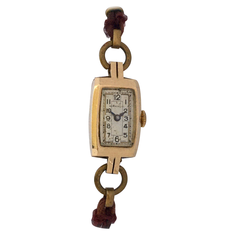"Vintage 1940s 9 Karat Gold Ladies ""Hendersons"" Swiss Mechanical Watch"