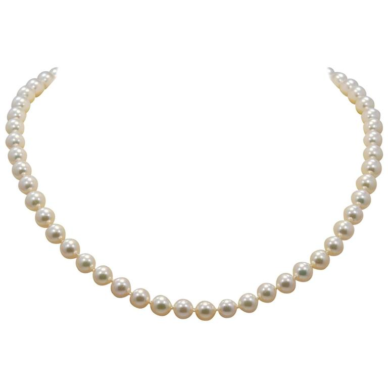 Enchanting Pearl Diamond Gold Beaded Necklace