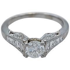 Sensational Tacori Diamond Platinum Engagement Ring