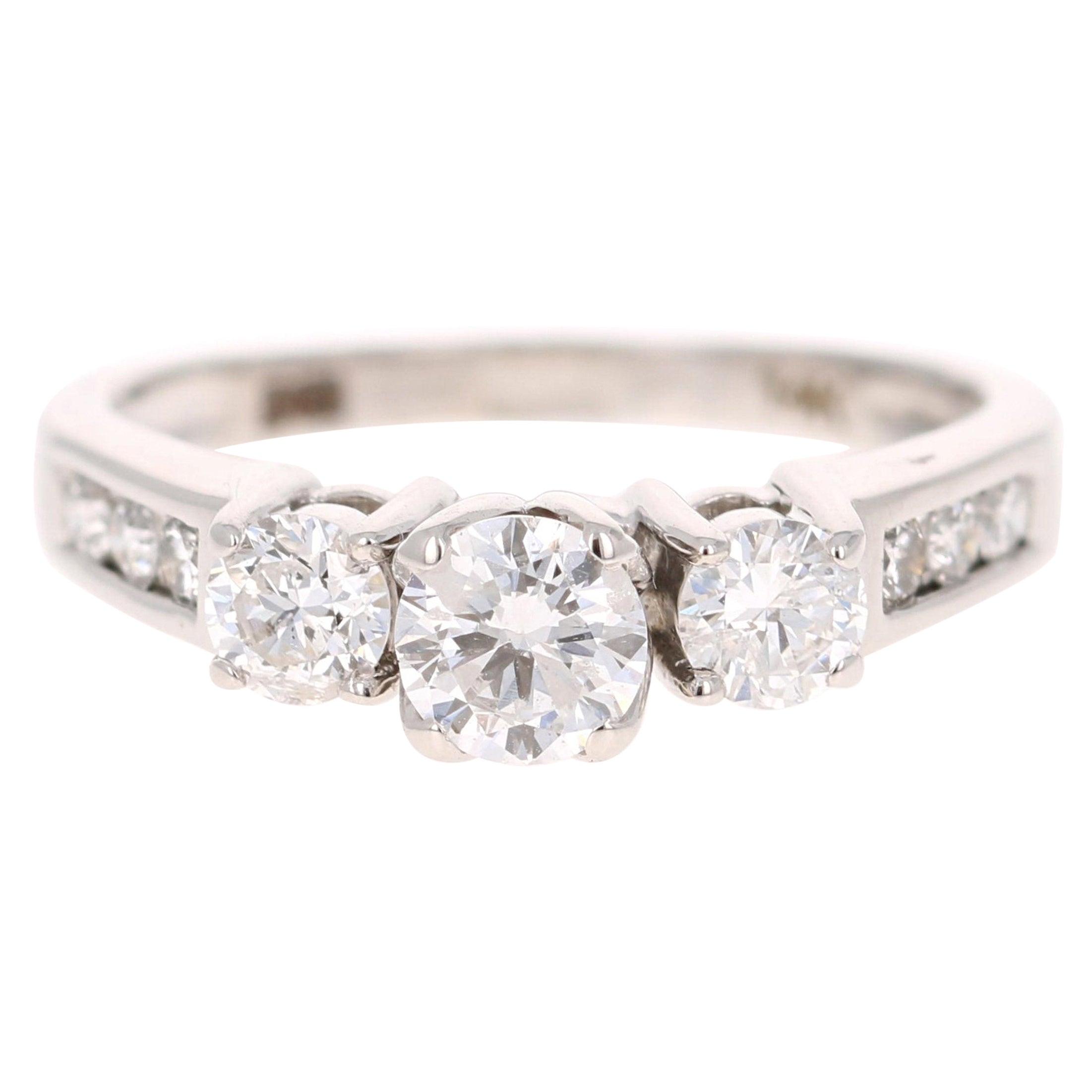 14 Karat White Gold Radiant Cut 1.00 Carats Peridot Diamond Pendant