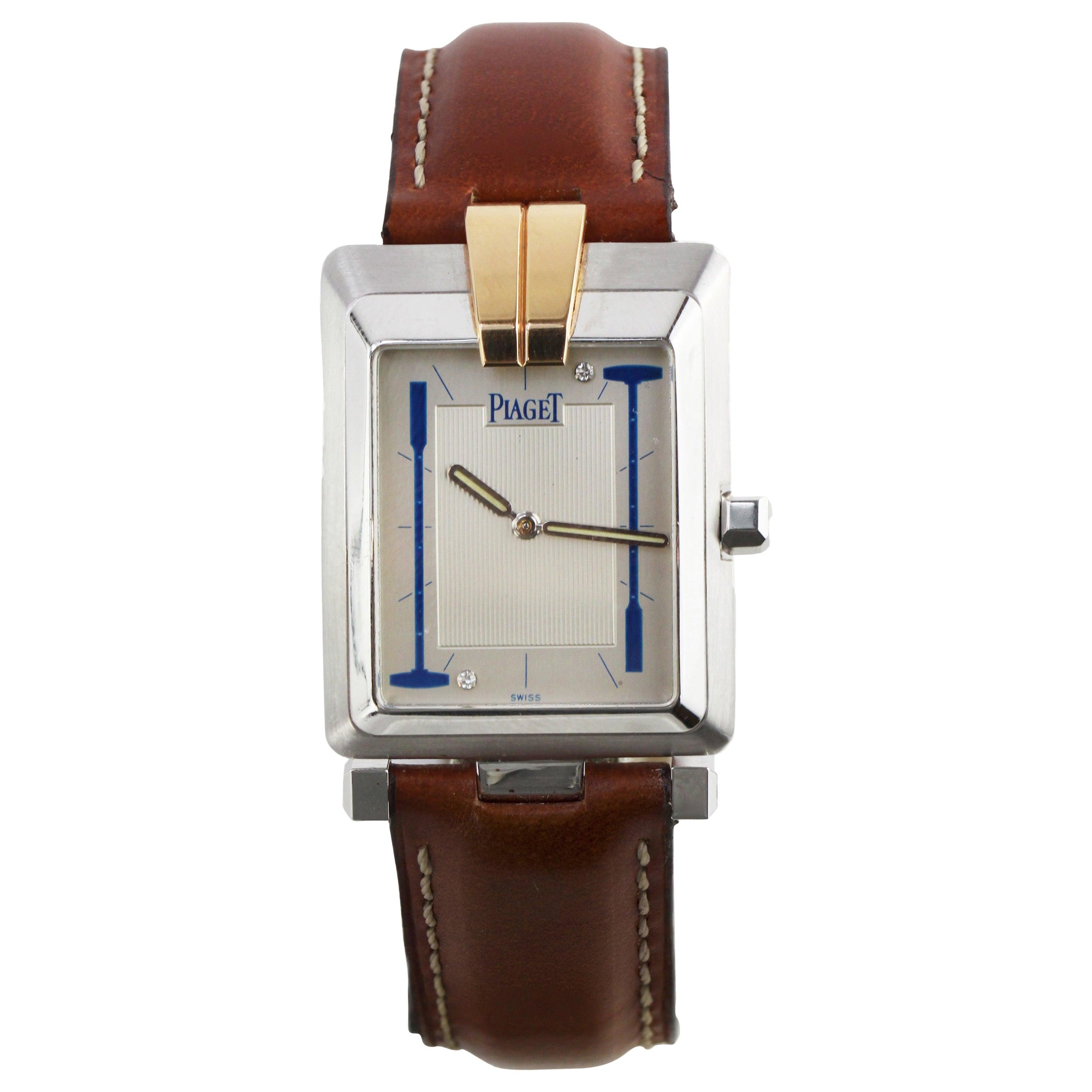 Piaget Mecanique 18 Karat White Gold Watch Ref 9110
