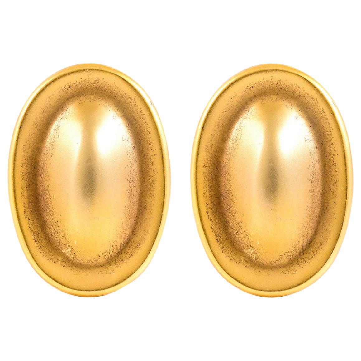 Oval 18 Karat Tiffany & Co. Clip-On Earrings