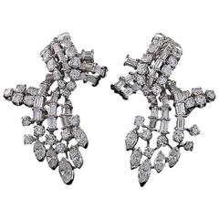 1950's Diamond and Platinum Earrings