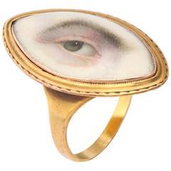 Very Rare Pristine Miniature of Male Lover's Eye  c.1780