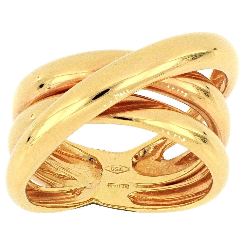 18 Karat Rose Gold Fashion Ring