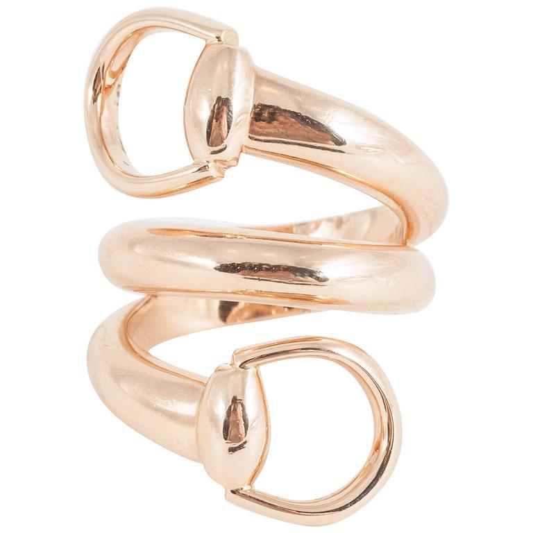 Gucci Gold Horsebit Ring