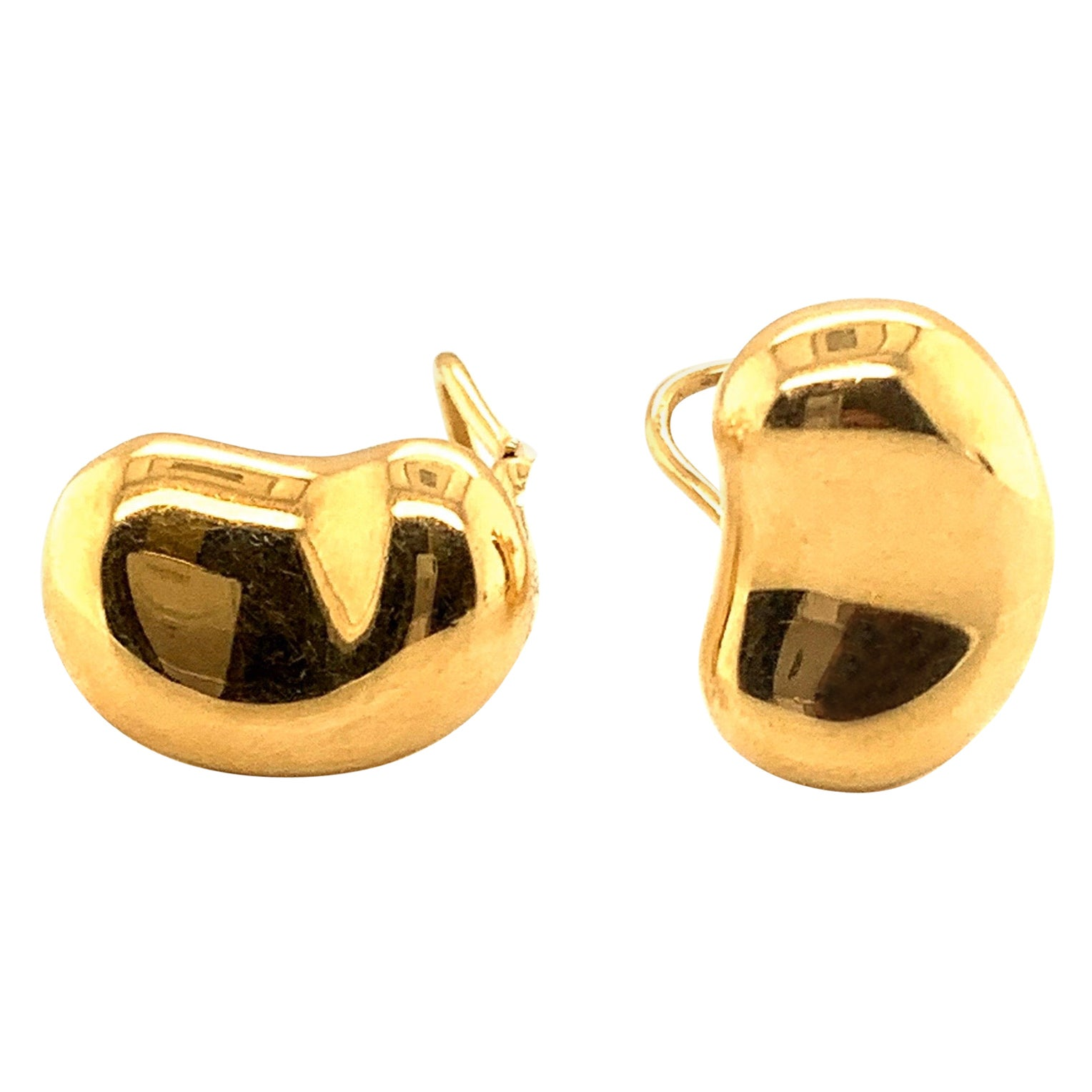 18 Karat Gold Elsa Peretti Tiffany & Co. Bean Necklace